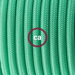 Porcelianinis kabantis šviestuvas su laimo žalios viskozės tekstiliniu laidu RM18