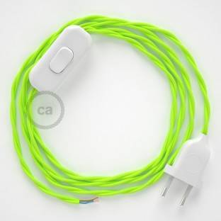 Lamp wiring, TF10 Neon Yellow Rayon 1,80 m. Choose the colour of the switch and plug.