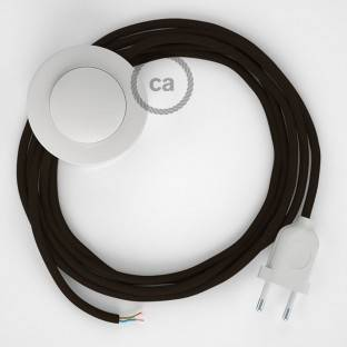 Wiring Pedestal, RM13 Brown Rayon 3 m. Choose the colour of the switch and plug.