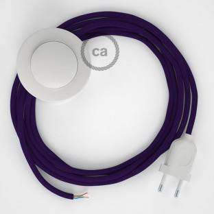 Wiring Pedestal, RM14 Purple Rayon 3 m. Choose the colour of the switch and plug.