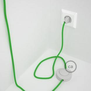 Wiring Pedestal, RM18 Lime Green Rayon 3 m. Choose the colour of the switch and plug.