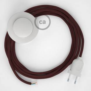 Wiring Pedestal, RM19 Burgundy Rayon 3 m. Choose the colour of the switch and plug.