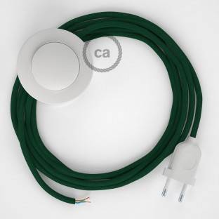 Wiring Pedestal, RM21 Dark Green Rayon 3 m. Choose the colour of the switch and plug.