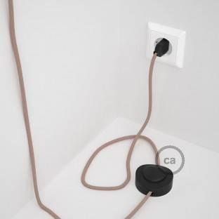 """""""Posaluce"""" juodojo perlo metalo stalinė lempa su tekstiliniu laidu, jungikliu ant laido ir 2 polių kištuku"""