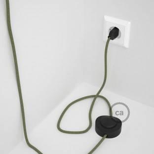 """""""Posaluce"""" žalvarinė stalinė lempa šviestuvo gaubtui su tekstiliniu laidu, jungikliu ant laido ir 2 polių kištuku"""