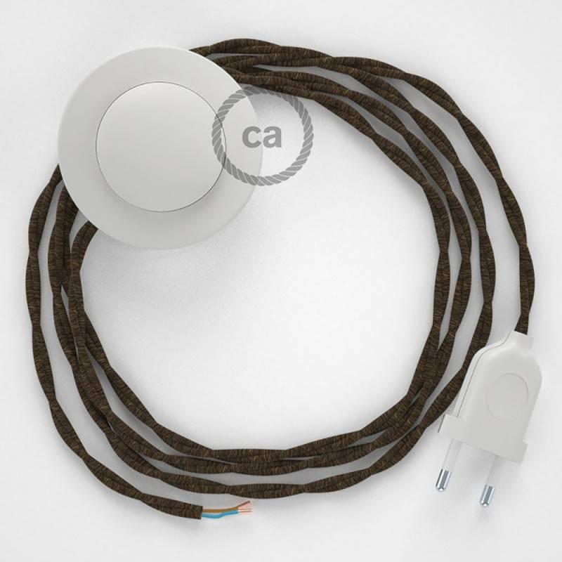 """Stalo šviestuvas """"Snake"""", su juodo metalo """"Diamond"""" E27 atviru šviestuvo gaubtu su 2 polių kištuku"""