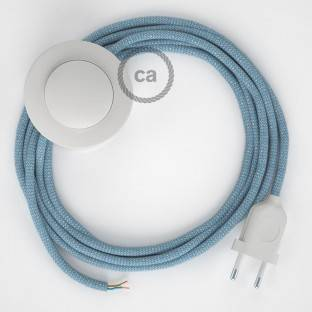 Wiring Pedestal, RD75 Blue Steward ZigZag Cotton and Natural Linen 3 m. Choose the colour of the switch and plug.