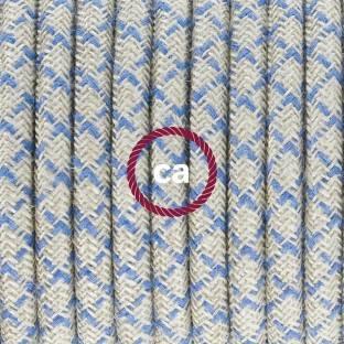 Spostaluce Metalas 90°,baltas reguliuojamas šviesos šaltinis su E27 sriegiuotu lempos lizdu,tekstiliniu laidu ir angomis šonuose