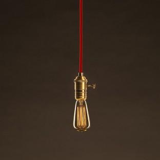 Lempos instaliacija, TM26 tamsiai pilka viskozė 1,80 m. Pasirinkite jungiklio ir kištuko spalvą.