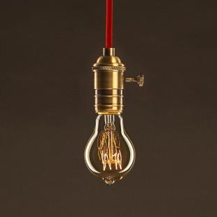 Lempos instaliacija, RM26 tamsiai pilka viskozė 1,80 m. Pasirinkite jungiklio ir kištuko spalvą.