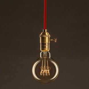 """Lempos instaliacija, RX08 """"Bronte"""" medvilnė 1,80 m. Pasirinkite jungiklio ir kištuko spalvą."""
