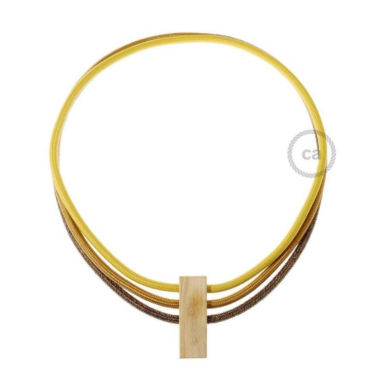 Instaliacijos pagrindas, RN01 neutralus natūralus linas 3 m. Pasirinkite jungiklio ir kištuko spalvą.