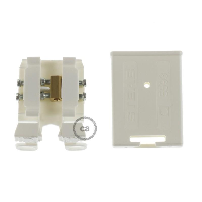 Instaliacijos pagrindas, RP04 balta-juoda dvispalvė viskozė 3 m. Pasirinkite jungiklio ir kištuko spalvą.