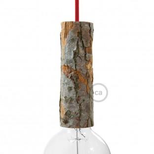 """SnakeBis"" instaliacija su lempos lizdu ir tekstiliniu laidu - šviesiai rožinė viskozė RM16"