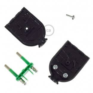 Two-Pole Black Plug 10A (small) – IMQ – Made in Italy
