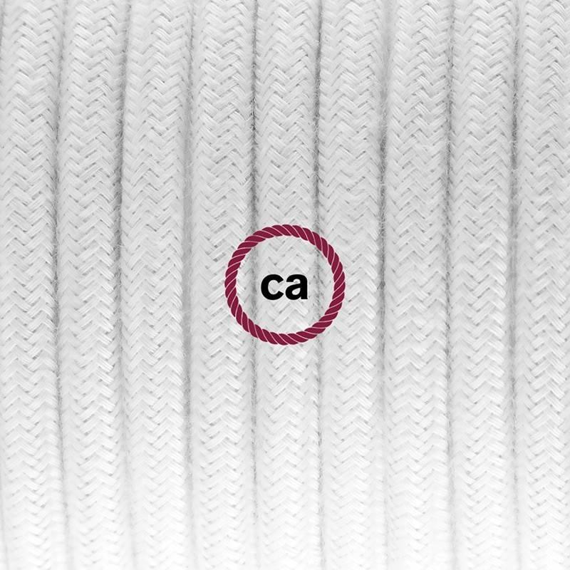 Apvalus blizgantis elektros laidas, padengtas ryškios spalvos viskoze RL02. Sidabro spalvos