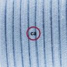 Apvalus elektros laidas, padengtas neapdirbtu linu RN03. Antracito spalvos