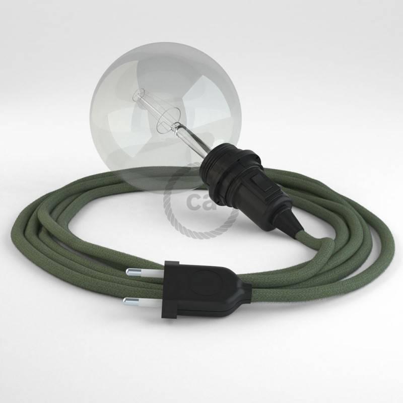 Vytas elektros laidas, padengtas neapdirbtu linu TN01. Natūralios lino spalvos