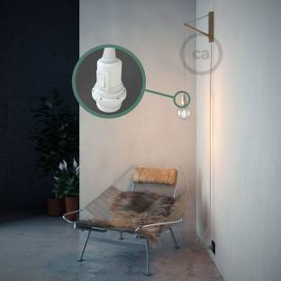 Create your RM01 White Rayon Snake for lampshade and bring the light wherever you want.