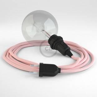 Apvalus elektros laidas, padengtas ryškios spalvos viskoze RM00. Dramblio kaulo spalvos