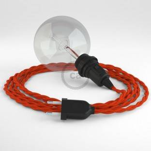 "Apvalus elektros laidas ""Vertigo HD"", dengtas Optical juodu ir sidabro spalvos audiniu ERM64"