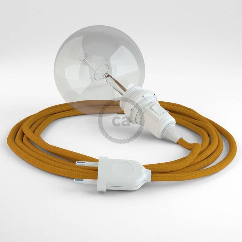 Didelio pjūvio elektros kabelis 3x1,50 apvalus - padengtas viskoze, juodas RM04