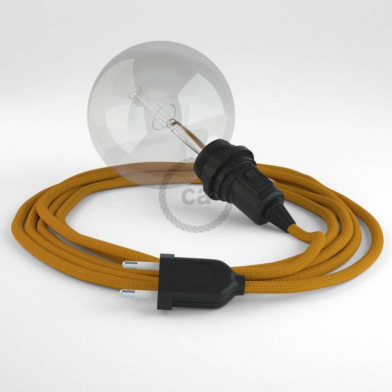 Didelio pjūvio elektros kabelis 3x1,50 apvalus - padengtas viskoze, ZigZag juodas RZ04