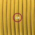 Didelio pjūvio elektros kabelis 3x1,50 apvalus - padengtas viskoze, 3D juodas, baltas RT41