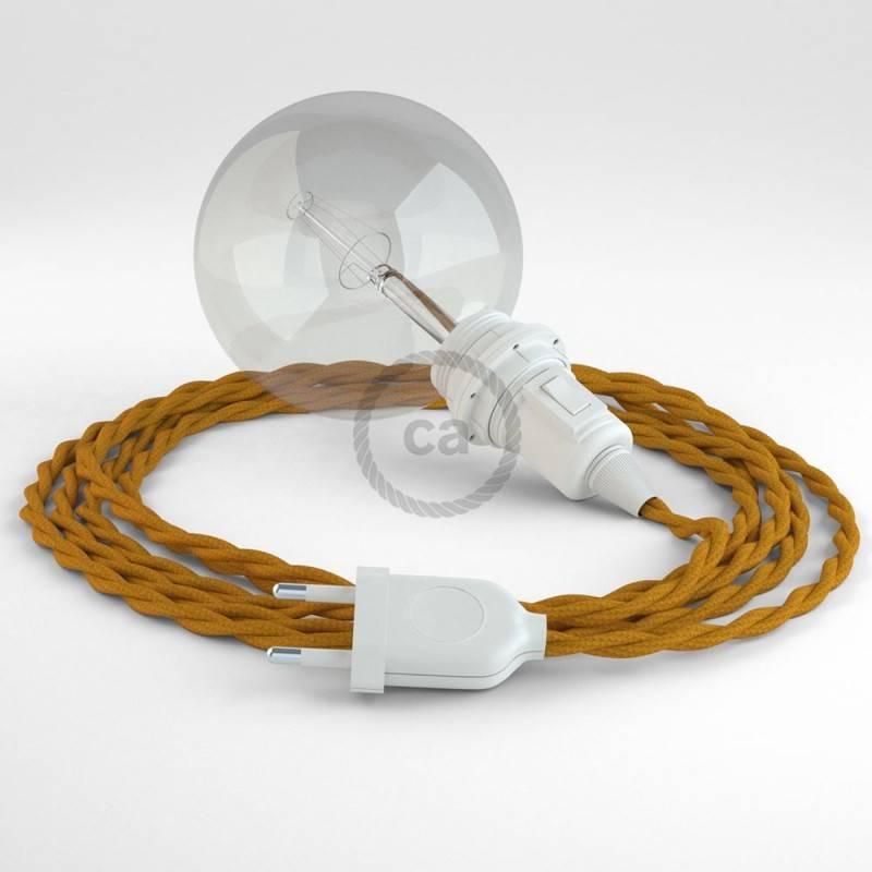 Didelio pjūvio elektros kabelis 3x1,50 vytas - padengtas viskoze, sidabro spalvos TM02
