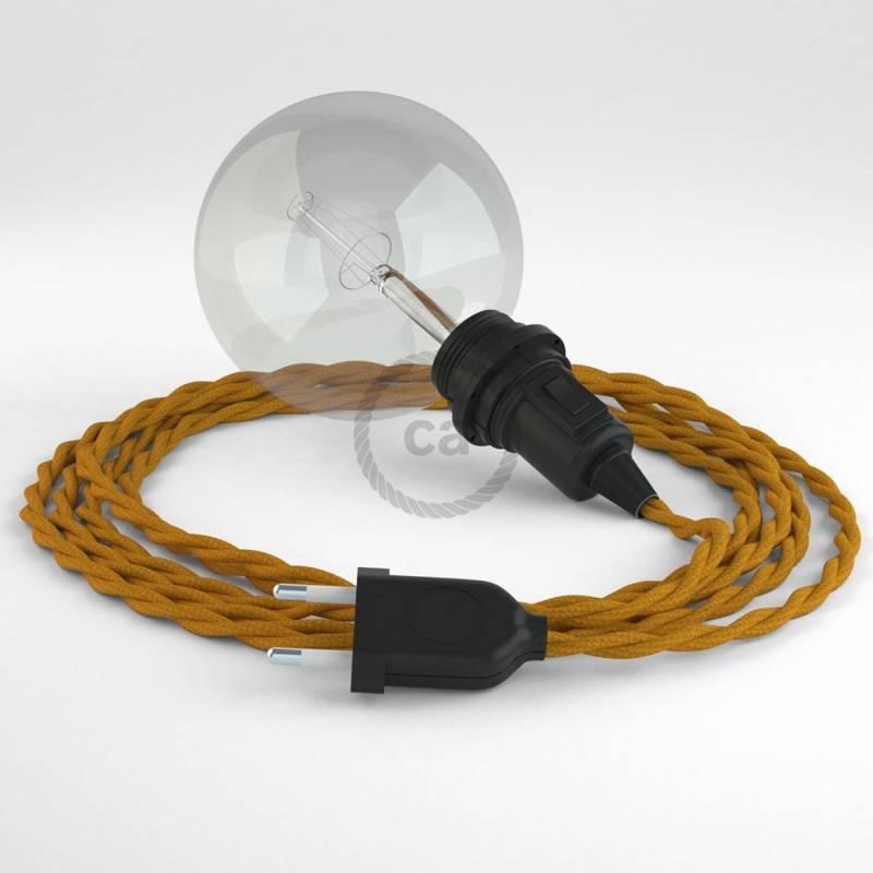 Didelio pjūvio elektros kabelis 3x1,50 vytas - padengtas viskoze, baltas TM01