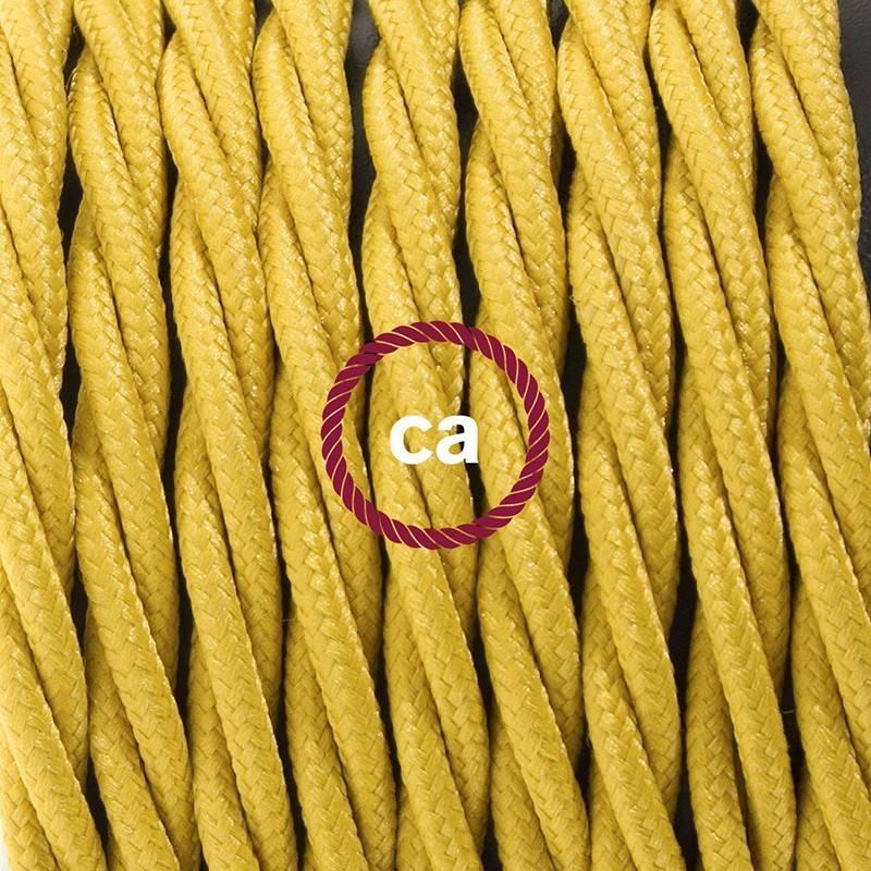 Didelio pjūvio elektros kabelis 3x1,50 vytas - padengtas viskoze, dramblio kaulo spalvos TM00