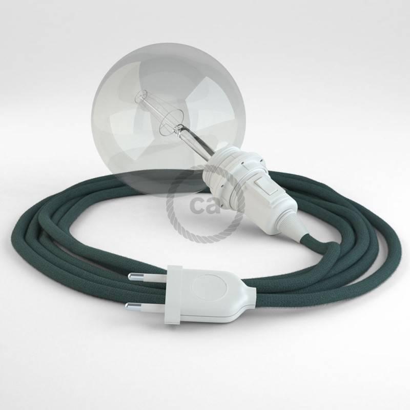 Didelio pjūvio elektros kabelis 3x1,50 vytas - padengtas viskoze, rudas TM13