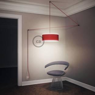 Didelio pjūvio elektros kabelis 3x1,50 vytas - padengtas viskoze, raudonas TM09