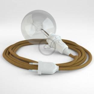Didelio pjūvio elektros kabelis 3x1,50 apvalus - padengtas viskoze, baltas RM01