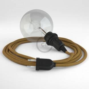 Didelio pjūvio elektros kabelis 3x1,50 apvalus - padengtas neapdirbtu natūraliu linu RN01