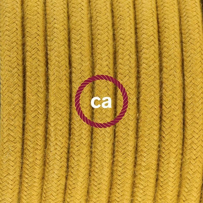 Didelio pjūvio elektros kabelis 3x1,50 apvalus - padengtas natūraliu pilku linu RN02