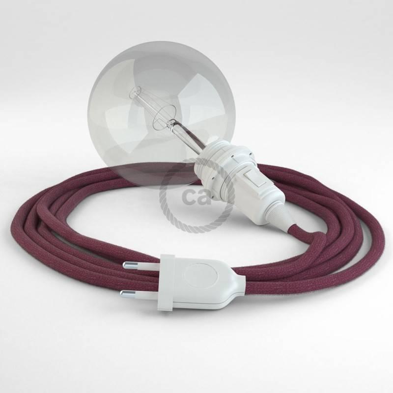 Didelio pjūvio elektros kabelis 3x1,50 apvalus - padengtas natūraliu rudu linu RN04