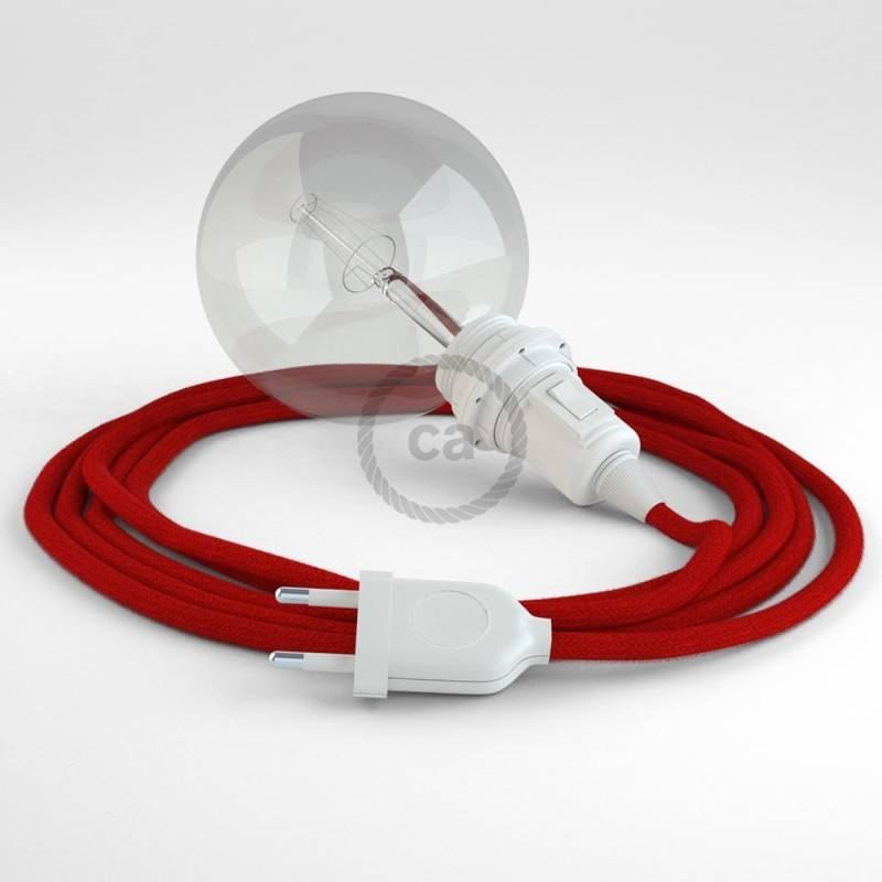 Didelio pjūvio elektros kabelis 3x1,50 vytas - padengtas natūraliu pilku linu TN02