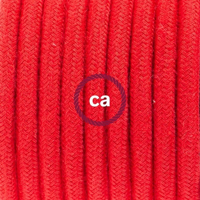 Didelio pjūvio elektros kabelis 3x1,50 vytas - padengtas natūraliu rudu linu TN04