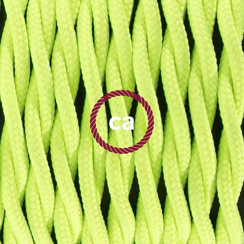 Didelio pjūvio elektros kabelis 3x1,50 apvalus - padengtas viskoze, tamsiai žalias RM21
