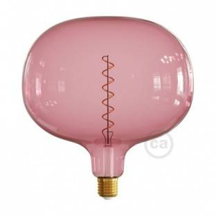 Cobble Berry red XXL light bulb, Pastel line, spiral filament, 4W E27 Dimmable 2200K