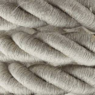 2XL electrical cord, electrical cable 3x0,75. Natural linen fabric covering. Diameter 24mm.