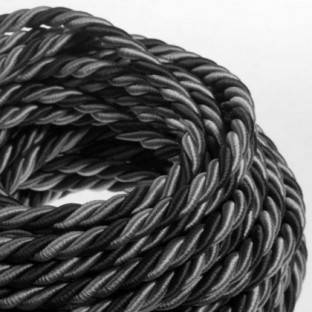 XL electrical cord, electrical cable 3x0,75. Bright fabric covering Orleans. Diameter 16mm.