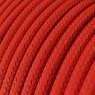 LAN Ethernet Cable Cat 5e with RJ45 plugs - Rayon Fabric RM09 Red