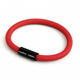 Bracelet with Matt black magnetic clasp and RM09 cable