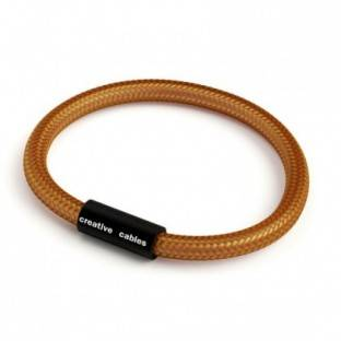 Bracelet with Matt black magnetic clasp and RM22 cable