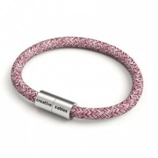Bracelet with Matt silver magnetic clasp and RS83 cable