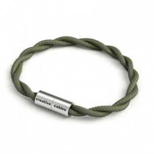 Bracelet with Matt silver magnetic clasp and TC63 cable