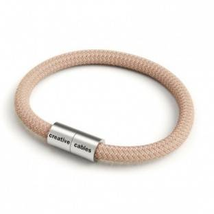 Bracelet with Matt silver magnetic clasp and RD71 cable
