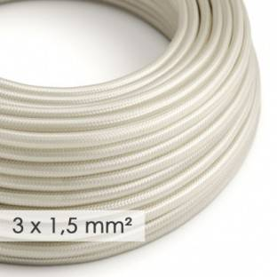 Large section electric cable 3x1,50 round - covered by rayon Ivory RM00